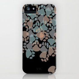 puppy paw prints iPhone Case