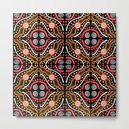 Landscape Australis (black) - An Abstract Design Metal Print
