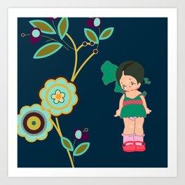 little miss zeesha Art Print