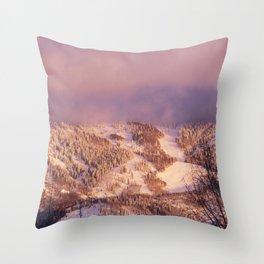 Rocky Mountain near the ski resort of Snowmass Village Colorado - Throw Pillow
