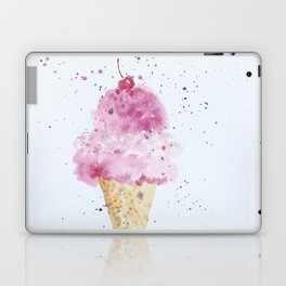 Ice cream Love Summer Watercolor Illustration Laptop & iPad Skin