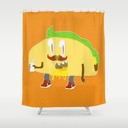 Feed Me- Taco 2 Shower Curtain