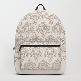 "Damask ""Cafe au Lait"" Chenille with Lacy Edge Backpack"