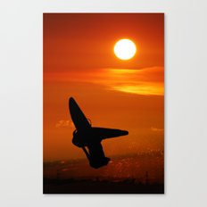 Windsurfing sunset Canvas Print