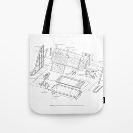 Korg MS-10 - exploded diagram Tote Bag
