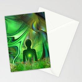 Heart Chakra Energy. Stationery Cards