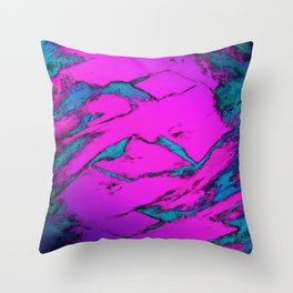 Fractured anger pink Throw Pillow