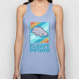 Manatee Retro Vintage Save The Floaty Potatoes design Gift Unisex Tank Top