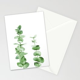 Eucalyptus leaves. Stationery Cards