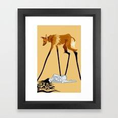 Fox & Girl Framed Art Print