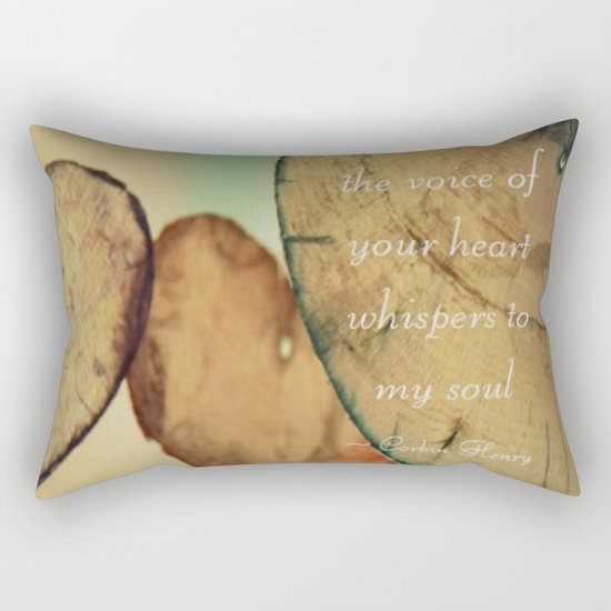 The Voice Of Your Heart Whispers To My Soul - Wind Chimes - Rustic - Wedding - Valentine's Day Rectangular Pillow