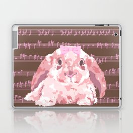 Bunny Composition (pink/brown) Laptop & iPad Skin