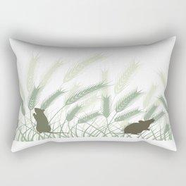 Mice In The Grain No. 1 Rectangular Pillow