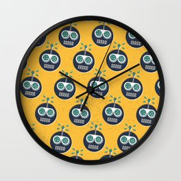 RW PATTERN YELLOW Wall Clock