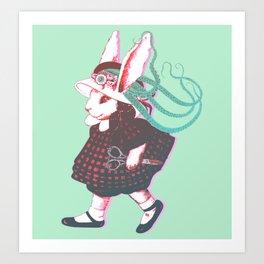 Creepy Bunn Art Print
