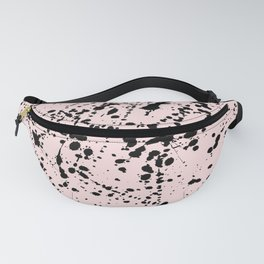 Splat Black on Blush Boarder Fanny Pack