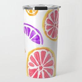 Summer Citrus Pattern Travel Mug