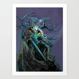 Elf King - Purple Art Print
