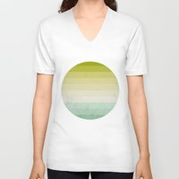 lime V-neck T-shirts featuring lime and lemon by xiari