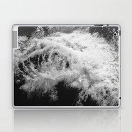 LAKE HURON WAVE B/W Laptop & iPad Skin