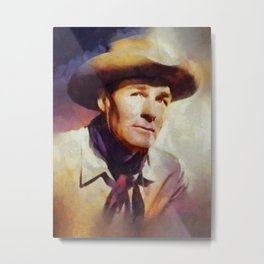 Randolph Scott, Vintage Hollywood Legend Metal Print