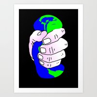 The world in our hands Art Print