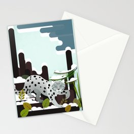 Snow Leopard - Made for the Mountains Stationery Cards