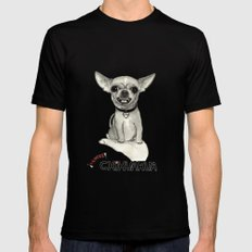 Danger! Chihuahua. Mens Fitted Tee Black X-LARGE