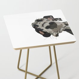 Great Dane dog in your face Side Table