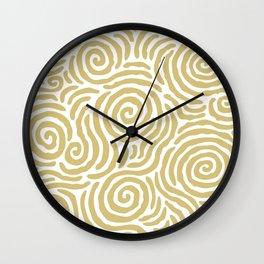 Ripple Effect Pattern Gold Wall Clock