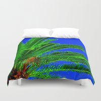 palm tree Duvet Covers featuring Palm Tree by Phil Smyth