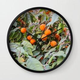 Moroccan oranges   Marrakech   Riad tree   Travel photography   Fine Art   Photo Print    Wall Clock