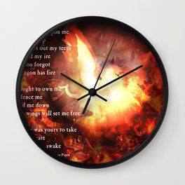The Dragon is Awake Wall Clock