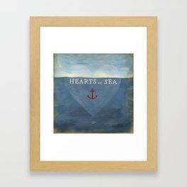 Hearts at Sea Framed Art Print