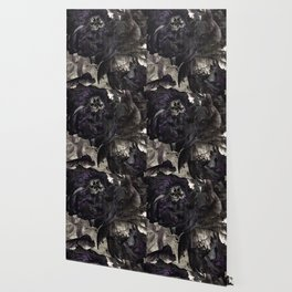goth peony Wallpaper