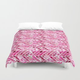 Cherry Bomb Chevron Duvet Cover