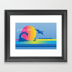 Greetings From The Cretaceous Period Framed Art Print