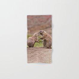 Cute Little Prairie Dogs In Love Hand & Bath Towel