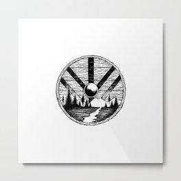 Viking shield Metal Print