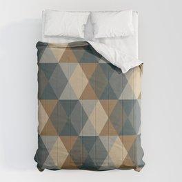 Caffeination Geometric Hexagonal Repeat Pattern Comforters