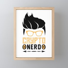Crypto Nerd Bitcoin Framed Mini Art Print