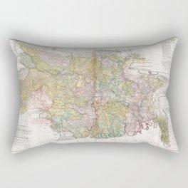 Map of  Bengal and Bihar, India 1776 Rectangular Pillow