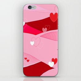 Hearts and Waves iPhone Skin