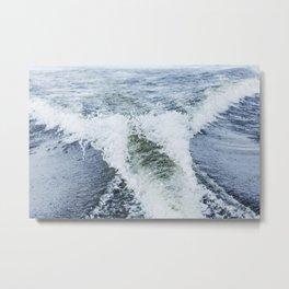 Boat Wake 9 Metal Print
