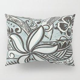 Hawaiian Slate Ocean Spray Print Pillow Sham