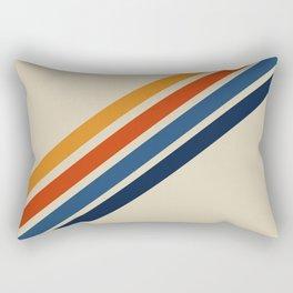 Retro 70s Stripe Colorful Rainbow Tan Classic Vintage Rectangular Pillow