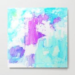 Breathing Beauty Watercolor Texture  Metal Print