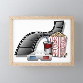 3D Movie Cinema Framed Mini Art Print