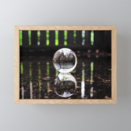 Fenced In and Floating Framed Mini Art Print