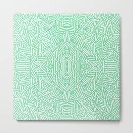Radiate (Celadon) Metal Print